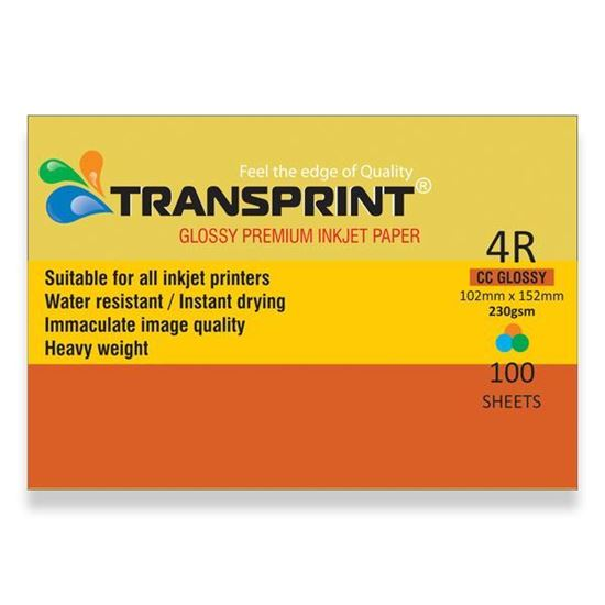 Picture of TRANSPRINT PREMIUM INKJET PAPER CC Glossy 4R