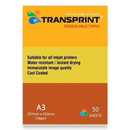 Picture of PREMIUM INKJET PAPER CC GLOSSY 108gsm A3