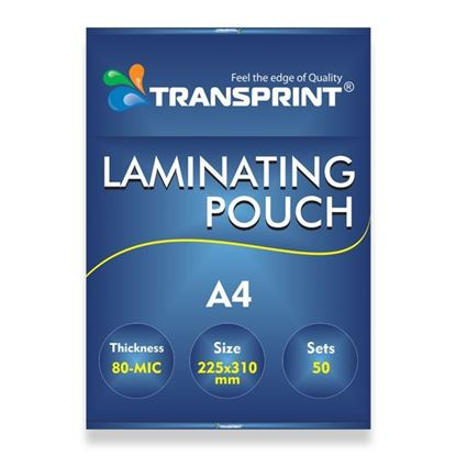 Picture of TRANSPRINT LAMINATING POUCH A4 80-MIC
