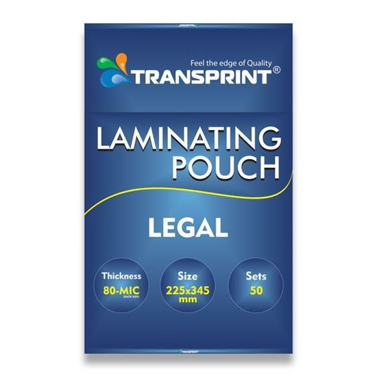 Picture of TRANSPRINT LAMINATING POUCH LEGAL 80-MIC